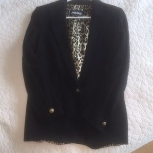 Just Cavalli Black Boyfriend Blazer Gold Buttons